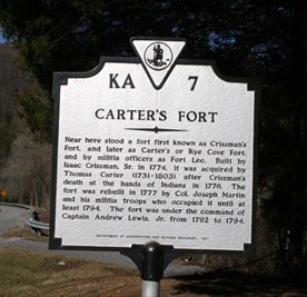 Carter's Fort Highway Historical Marker